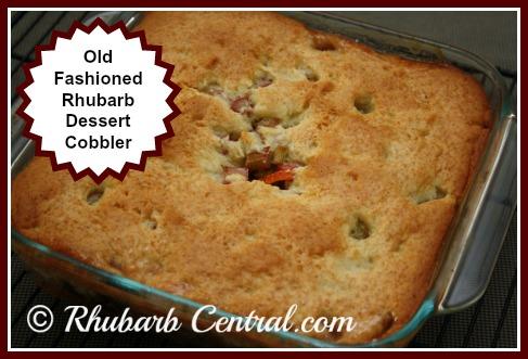 Old Fashioned Rhubarb Dessert Recipe