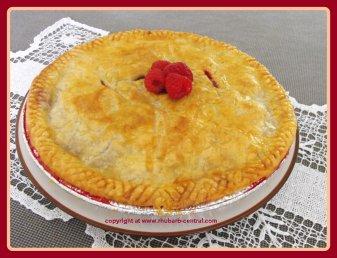 Raspberry Rhubarb Pie Recipe Just like Grandmas Rhubarb Pie