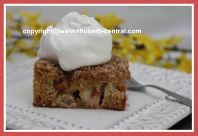 Homemade Rhubarb Coffee Cake
