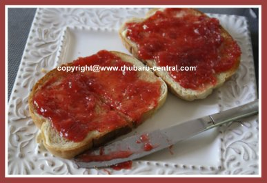 Easy to Make Strawberry Rhubarb Freezer Jam with Less Sugar
