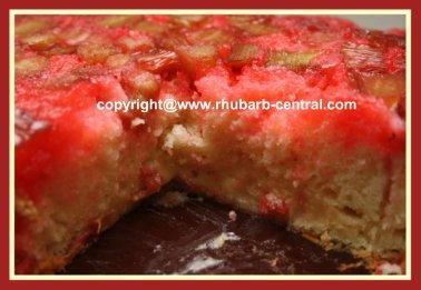 Homemade Rhubarb Cake using Cake Mix