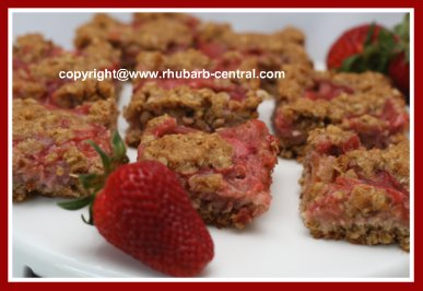 Healthier Rhubarb Recipe Squares or Bars