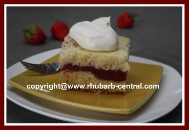 Strawberry Rhubarb Recipe Cake
