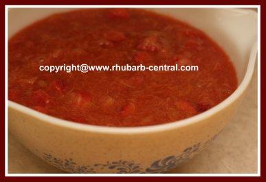 Homemade Rhubarb Strawberry Sauce Recipe