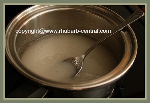 Adding Sugar for Oven Baked Rhubarb Sauce