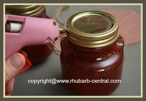 Attaching Fabric to Jar Top