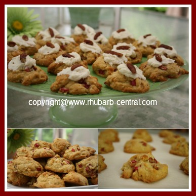 Collage Picture of Rhubarb Cookies