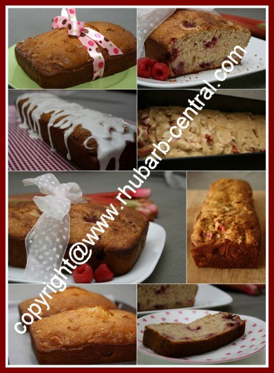 Collage Image of Rhubarb Bread Recipes