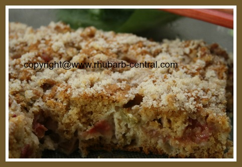 Best Rhubarb Cake Made with Fresh Rhubarb or Frozen Rhubarb