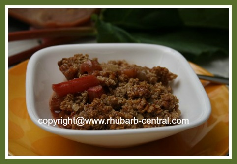 Fresh Rhubarb Recipe Rhubarb Crisp Dessert