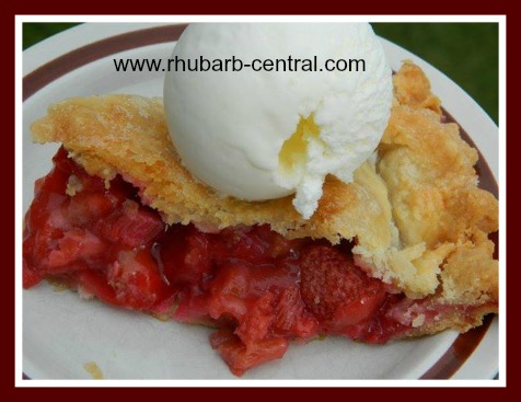 Gluten Free Rhubarb Strawberry Pie
