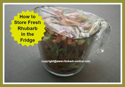 Keep Fresh Chopped Rhubarb Stored in the Fridge