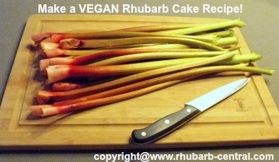 Make a Vegan Rhubarb Cake Recipe