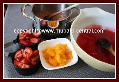 Ingredients to Make Fruit and Gelatin/Jello Salad Mold