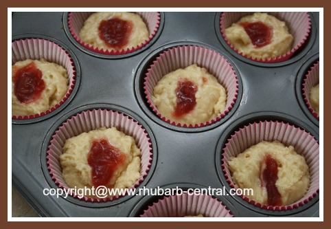 Making Muffins with Jam Centers