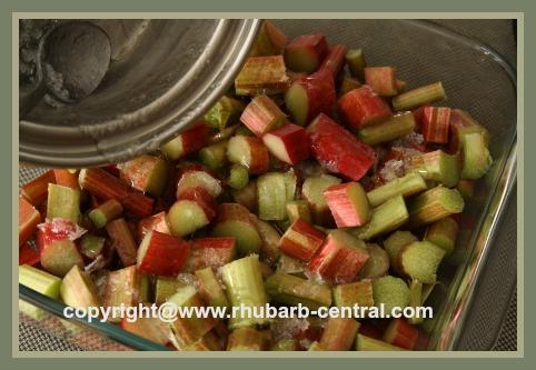 Making Rhubarb Sauce