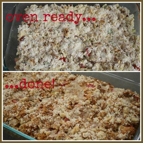 Making Rhubarb Cake