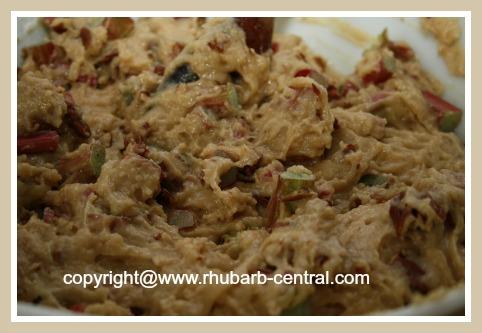 Making Rhubarb Muffins
