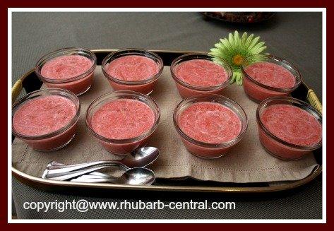Recipe for Rhubarb Pudding for Dessert