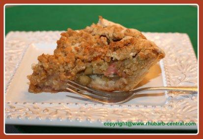 Homemade Rhubarb Custard Pie
