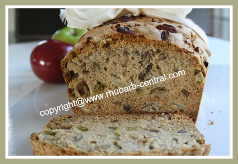Rhubarb and Apples Bread Recipe Homemade