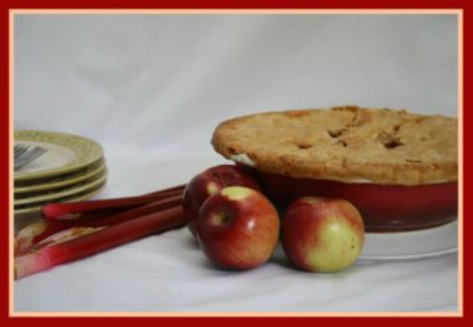 Rhubarb Apple Pie from Scratch Homemade