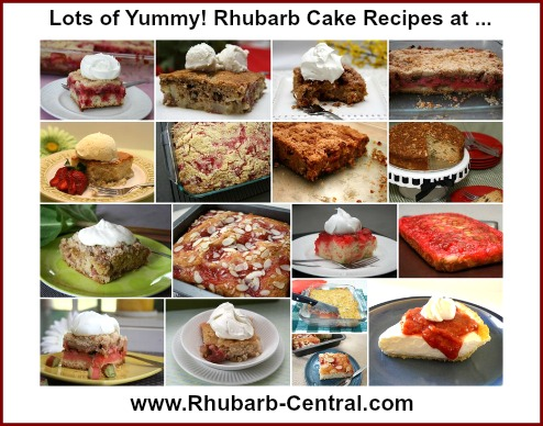 Yummy Rhubarb Cake Recipe at Rhubarb-Central