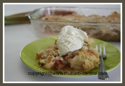 Rhubarb Dessert Cobbler Recipe