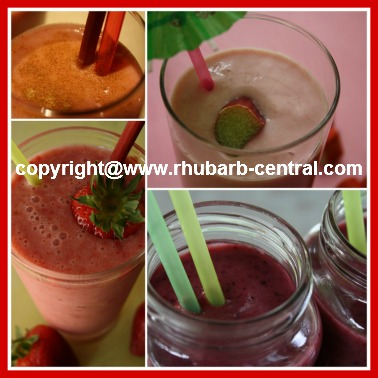 Rhubarb Drink Recipes Vegetable Smoothies with rhubarb Collage