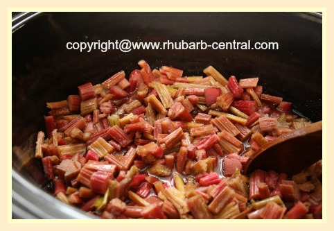 Rhubarb In Crockpot or Slow Cooker Recipe