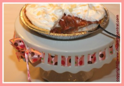 Rhubarb Pie Made with Fresh OR Frozen Rhubarb