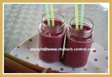 Rhubarb Milkshake with Berries