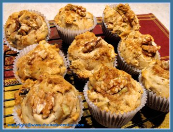 Easy Rhubarb Muffins Rhubarb Nut Muffins Recipe