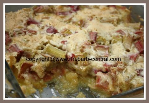 Rhubarb Pudding Dessert Recipe at Rhubarb Central.com