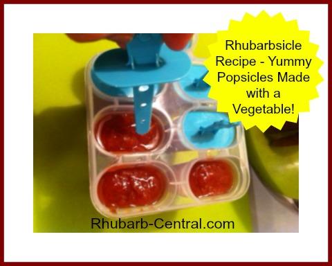 Rhubarb Recipe for Kids Rhubarb Popsicles