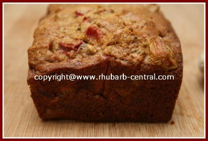 Loaf of Rhubarb Bread