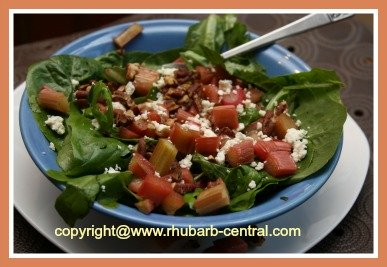 Roasted Rhubarb Salad