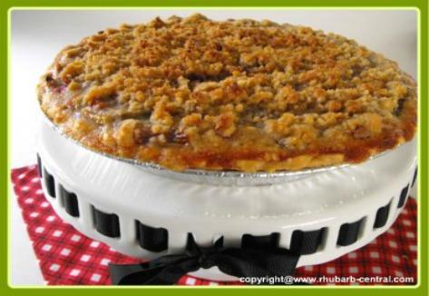 One Crust Homemade Rhubarb Pie