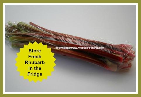 Storing /Keeping Fresh Rhubarb Stalks in the Refrigerator