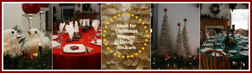 Christmas Recipes with Rhubarb