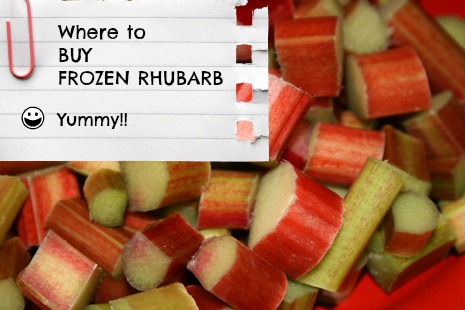 Frozen Rhubarb for Sale in Canada and US